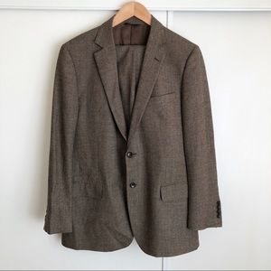 BROOKS BROTHERS | brown suit jacket & pants set